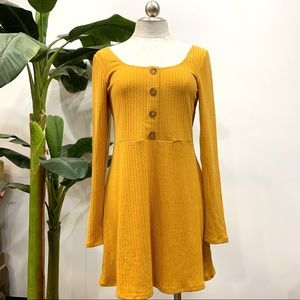 NWT Wild Fable Mustard Long Sleeve Dress